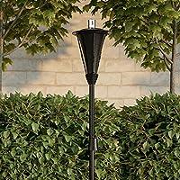 Pure Garden 50-222 户外手电筒灯 - 114.3 厘米金属燃油罐火焰灯,适用于玻璃纤维灯芯香茅,可调节后院、庭院高度