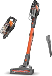 Black+Decker 百得 BHFEV182C-QW,4合1长柄式榨汁机 (18V, 2.0Ah, 无袋地板&手持吸尘器带电动刷,无线,含2合1缝隙,电池,充电器和壁挂式) Titanium/Orange BHFEV182B-QW
