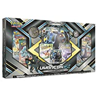Pokemon TCG:Sun & Moon Guardians Rising Umbreon-GX 高级系列 - 收藏品交易卡套装 - 3 个以 Umbreon-GX 、Espeon-GX 和 Eevee 为特色的 Foil 促销卡 - 6 个增高包,Umbreon 硬币