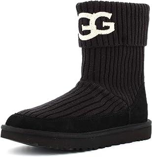 UGG Australia 女士 W 经典 UGG 针织及踝靴 黑色(黑色) 6 UK