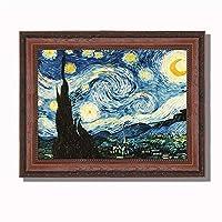 ANKH 星空 梵高 圣诞节 古典油画 抽象 客厅 装饰画 欧式壁画 餐厅 挂画 品质选择 艺术之作 品鉴版(大幅)