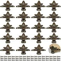 PGMJ 20 件复古设计装饰首饰盒腿,木质盒腿五金件,用于复古木盒,首饰盒,礼品盒,酒盒,工具箱,橱柜,橱柜 青铜色
