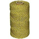W. Rose RO685 *专业粘合编织尼龙面具鱼线,685 英尺,黄色/黑色