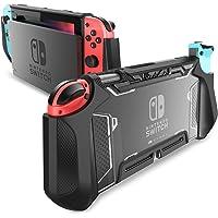 Mumba 可托放 Nintendo Switch 手機殼 TPU Grip 保護套 兼容 Nintendo Switch 游戲機和 Joy-Con 控制器MBA-Nintendo-Switch-Blade-Green