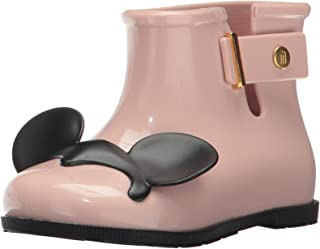 Mini Melissa 女童迷你糖迪士尼双胞胎雨靴,蓝色/黑色,9 码常规美国幼童 粉色/黑色 6 Regular US Toddler