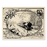 STAMPENDOUS 木柄印章,火车明信片