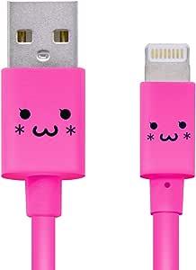 罗技公司 照明电缆 Lighting USB线 【支持Apple认证 iPhone&iPad】 带可爱脸部LHC-FUAL12CPN 闪电电缆 1.2m 4_粉色