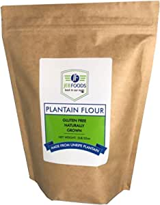 JEB FOODS Plantain flour - 2 LB 100% Pure Africa Green Plantain Flour, Paleo Diet, Gluten Free Baking