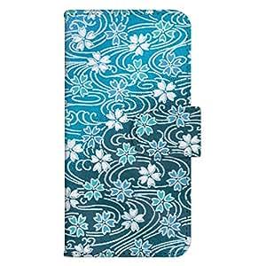 智能手机壳 手册式 对应全部机型 印刷手册 wn-309top 套 手册 和式图案 UV印刷 壳WN-PR061405-MX AQUOS Xx2 502SH B款