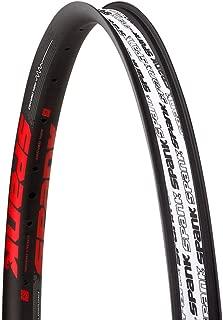 Spank sp-rim-0172-b/红色轮辋自行车中性成人,黑色/红色