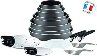 Tefal Ingenio 5 l2049002 基本套17 木炭所有熱源除引發:3 個平底鍋 + 3 個煎鍋 + 炒鍋 + 1 個煎鍋 2 個手柄 + 7 個配件