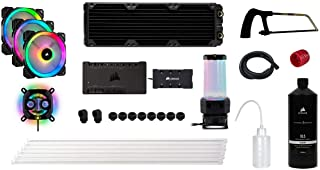 Corsair Hydro X 系列、iCUE XH300i RGB 定制冷却套件(XC7 RGB (115X/AM4) GPU 水块、XD5 泵/储液组合、XL5 冷却剂、XR5 散热器、3 x LL 120 RGB 风扇、iCUE Commander PRO 等)