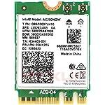 英特尔双频无线 AX200NGW - WiFi 6 AX200 WiFi 适配器 - 2.4GHz 574Mbps/5GHz 2.4Gbps - 802.11AX 网卡 - 蓝牙5.0 无线网络适配器 适用于 Windows 10 64 位...
