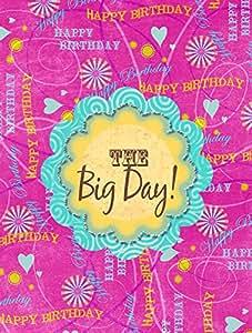 Happy Birthday The Big Day Pink Flag 多色 小号