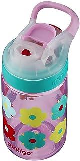 Contigo 康迪克 AUTOSEAL Gizmo Sip儿童水瓶,14 盎司/约414毫升,Thistle Petals蓟花瓣紫红色