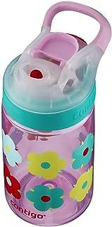 Contigo 康迪克 AUTOSEAL Gizmo Sip兒童水瓶,14 盎司/約414毫升,Thistle Petals薊花瓣紫紅色