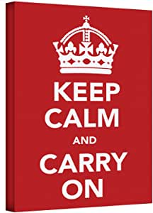Art Wall Keep Calm and Carry on by The United Kingdom Gallery Wrapped Canvas Art, 18 by 24-Inch