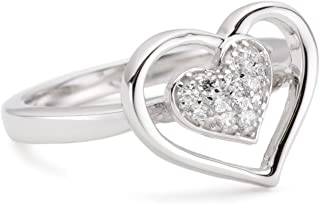 Myia Passiello R2209201_120 必备银色方晶锆石 5.952 克拉戒指