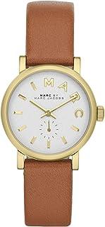 Marc by Marc Jacobs MBM1317 棕褐色皮革表带金色表圈女士手表