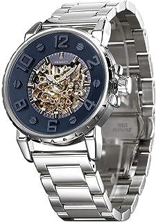 男式腕表 模拟手表 自动机械 陀飞轮手表 不锈钢表带 极简主义夜光自动上弦手表