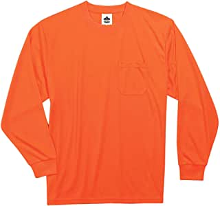 Ergodyne GLoWEAR 8091 Non-Certified Long Sleeve T-Shirt, XX-Large, Orange