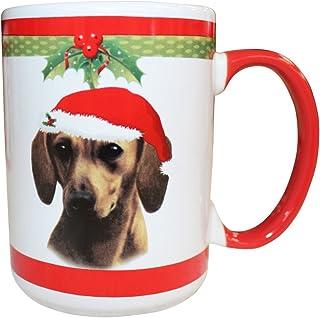 E&S Pets 腊肠犬红色马克杯,15 盎司
