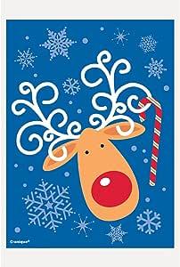 Reindeer Christmas Treat Bags, 50ct