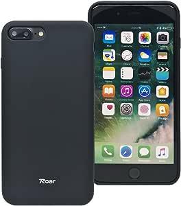 iPhone 7 Plus 软质手机壳,玫瑰色诞生[完美贴合][全哑光][平滑触感][防滑]舒适橡胶硅胶 TPU 全机身保护套 - 适用于 iPhone 7 Plus(5.5 英寸) 黑色