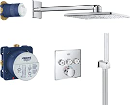 Grohe 高儀 Grohtherm SmartControl | 花灑和淋浴系統| 嵌入式系統配有Rainshower 310 Smartactive頭頂花灑|34706000