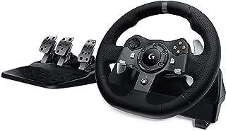 Logitech 罗技 G920 Driving Force赛车方向盘和踏板,Xbox One游戏机和电脑适用,英式插头