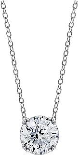 [アマゾンコレクション] Amazon Collection プラチナメッキスターリングシルバークリアーカットキュービックジルコニアチェーンペンダント ペンダント JEP00412_120CL00QD00