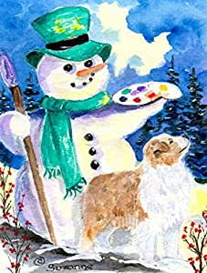 Snowman with Australian Shepherd Flag 多色 小号