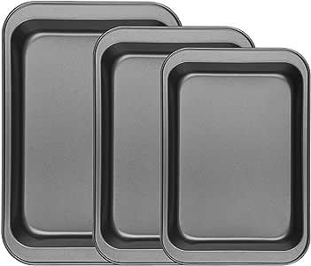 finether 烤盘套装 | 高级不粘烘焙 pans 黑色 1 号