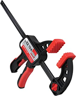 "Bessey EZ15-6 One Handed Trigger Clamp for Compressing & Spreading 6"" Capacity x 2 3/8"" Throat Depth, Red/Black"