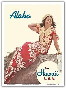 "Pacifica Island Art Aloha 来自美国夏威夷 - 老式世界旅行海报 Toni Frissel 出品,1941 年 - 艺术大师印刷 9"" x 12"" PRTA1248"