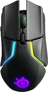 SteelSeries Rival 650 光电游戏鼠标,双光学传感器,可调起升距离,可调重量系统