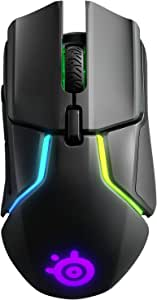 SteelSeries Rival, 光学游戏鼠标, 颜色黑色62456  Wireless Rival 650