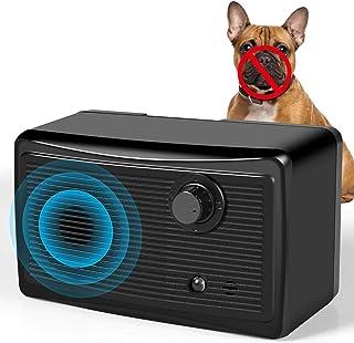 吠叫控制设备,*版迷你声波止吠器,3 个超声波频率 30Khz 50 英尺范围9V 电池,止吠训练工具