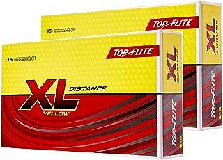 Top Flite XL 距离高尔夫球黄色(30 只装)