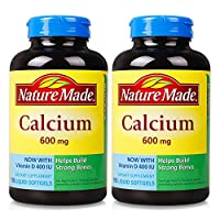 Nature Made 钙加维生素 D 液体软胶囊 600mg*110粒*2瓶(美国品牌)包税包邮