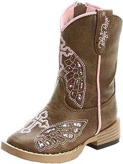 Blazin Roxx 女童 Gracie 侧拉链靴,手工制作