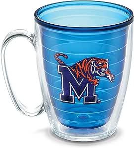 Tervis 1086048 Memphis University Emblem Individual Mug, 16 oz, Sapphire