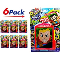 JA-RU Pocket Travel Fuzzy Face 游戏(6 件装)磁力玩具将面部毛刷拉到不同的面部| 商品 #3257-6