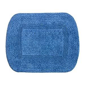 Cozy Bath Tufted Fashion 双面棉质浴室地毯 蓝色(Chambray) BR-27-Chambray
