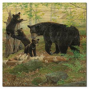 "WGI Gallery Playtime Bears 墙壁艺术品 1"" x 24"" x 24"" WA-PT-2424"