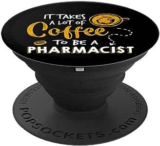 咖啡爱好者趣味*师礼品*** PopSockets 握把和支架适用于手机和平板电脑260027  黑色