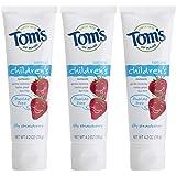 Tom's of Maine 无氟儿童牙膏,天然儿童牙膏,莓味,4.2盎司(119克),3件装