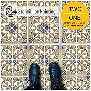 流苏瓷砖墙面家具地板模板用于绘画| 可定制尺寸 30 cm (6 tile repeat)