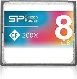 Silicon Power 8GB 紧凑型闪存 200X 8GB CompactFlash 存储卡 - 存储卡 (CompactFlash、灰色、RoHS、3.3/5、0-70 °C、-40-85 °C)