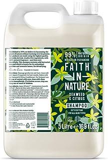 Faith In Nature 海藻和柑橘洗发水 5 升瓶